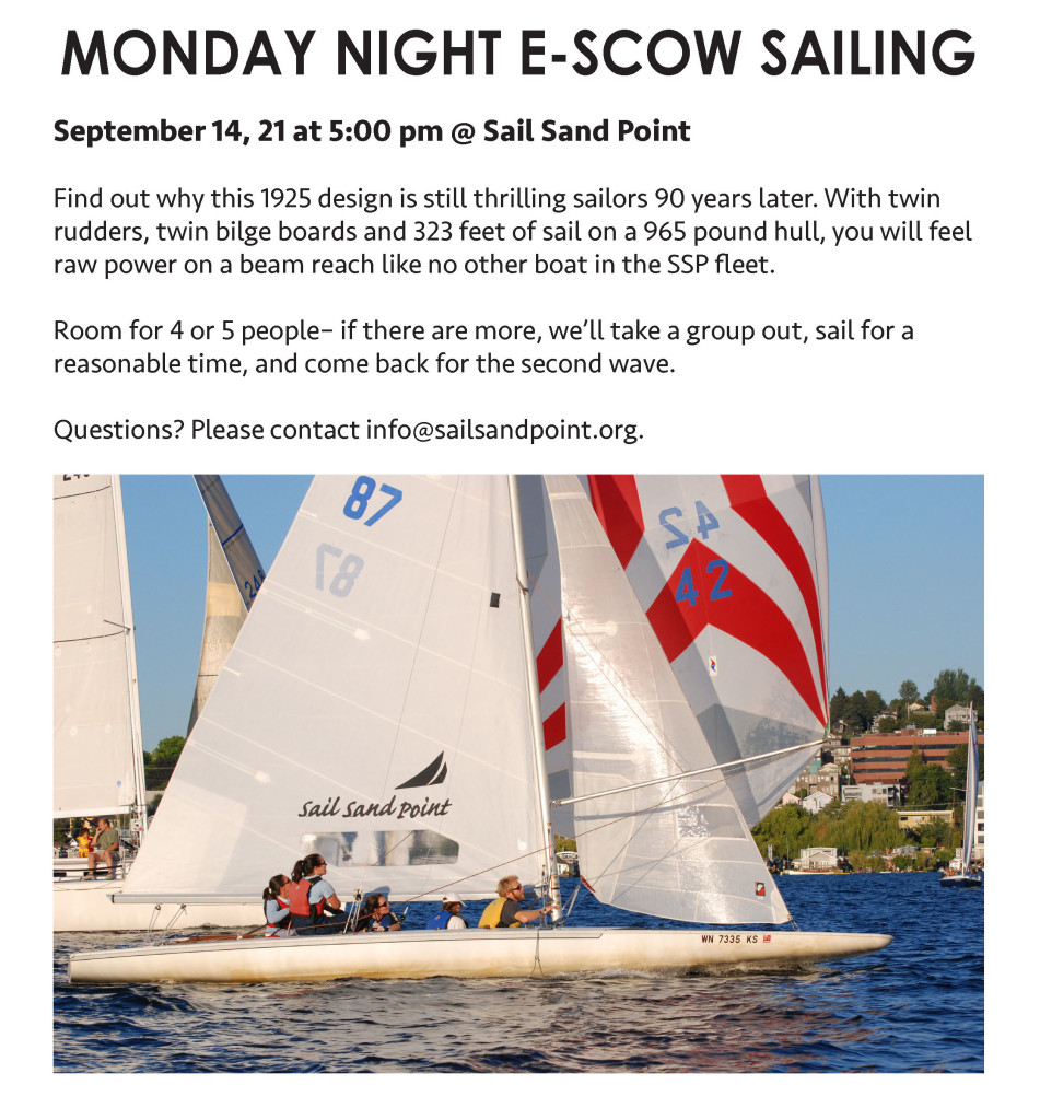 monday night e scow sailing sept