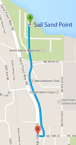 """map of route within Magnuson Park"""